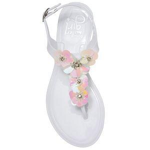 NWT Olivia Miller Opal Flower Sandal Thong Size 12